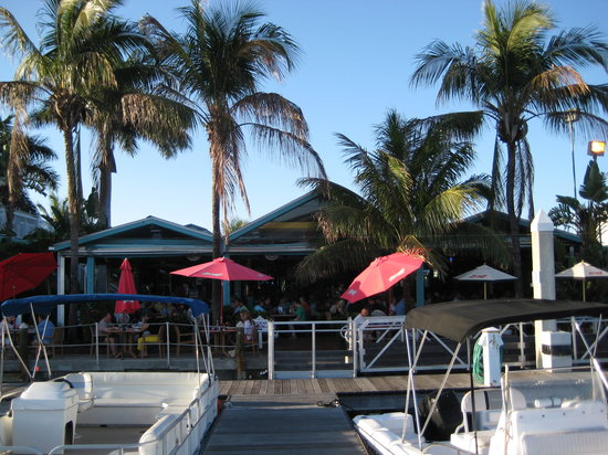 Parrot Key Caribbean Grill: View from docks