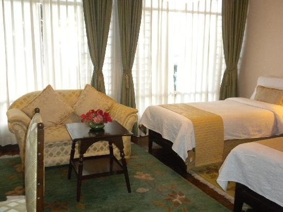The Elgin, Darjeeling: Our bedroom - the beds are narrower than they appear in the picture