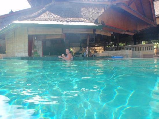 Champlung Mas Hotel: pool bar