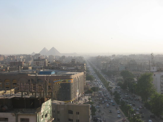 Barcelo Cairo Pyramids: View from our room on the11th floor