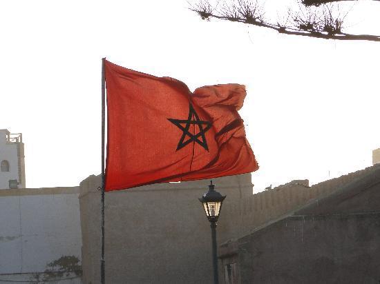 Riad Malaika : The wind of Essaouira and the Marocan Flag