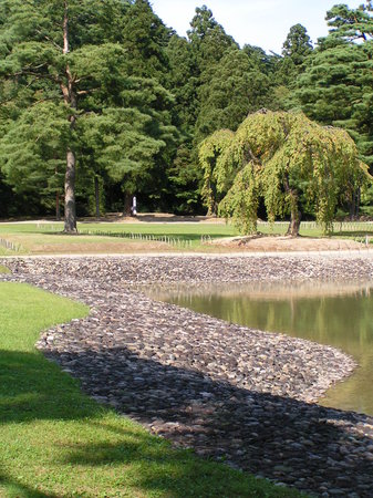 Hiraizumi-cho, Japan: Ufer des grossen Teichs