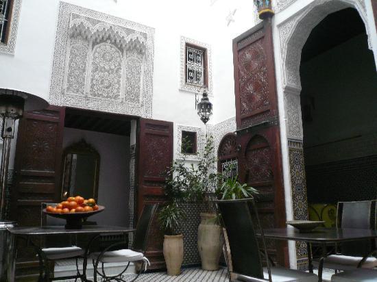 Riad Boujloud: Patio intérieur