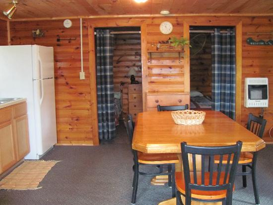 Northern Lights Lodge: Kitchen and two bedrooms looking from 3 season porch