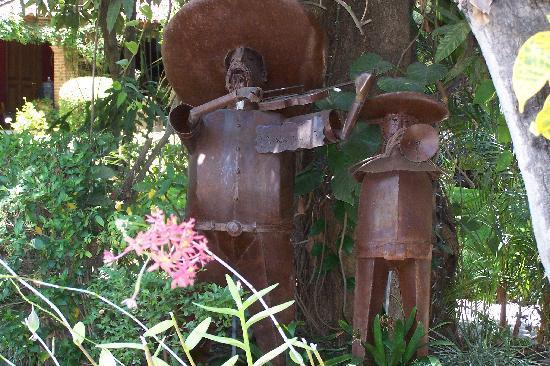 """Los Artistas B & B: """"Mariachi Band"""" Art piece in the garden"""