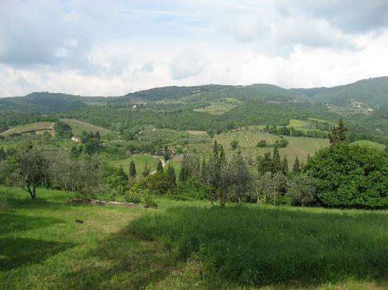 Monte Poni: view from villa