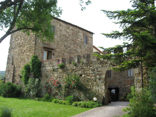 Monte Poni: the front of the villa