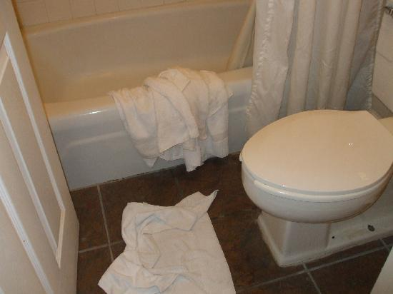 Palms Island Resort & Marina : bathroom at 4.30pm