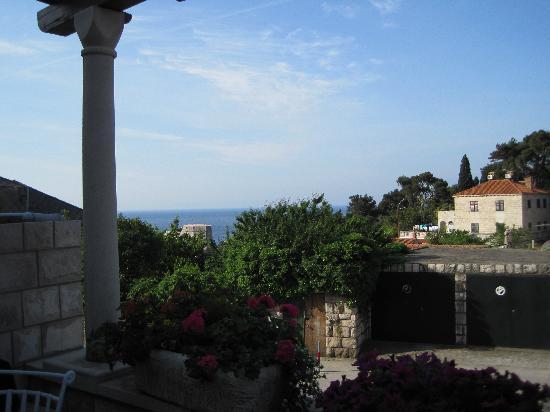 B&B Villa Dubrovnik Garden: View from breakfast spot