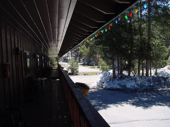 Tamarack Motor Lodge: Sitting porch in front of our room