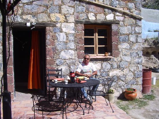 Real de Catorce, Mexico: La terrasse petit déjeuner