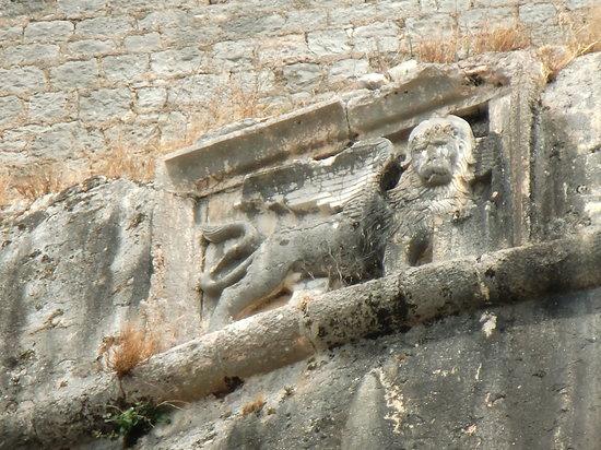 Lefkimi, Grækenland: lion de venise à Corfou ville