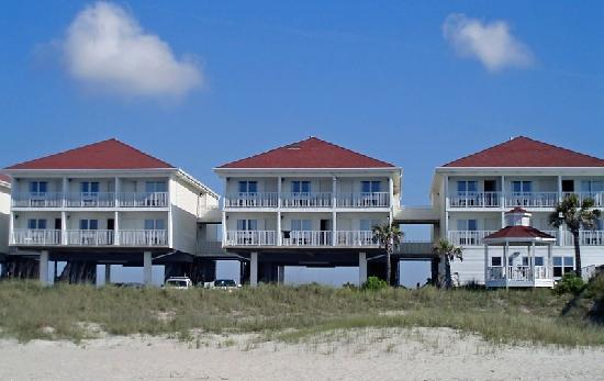 View of the Islander Inn from beach area