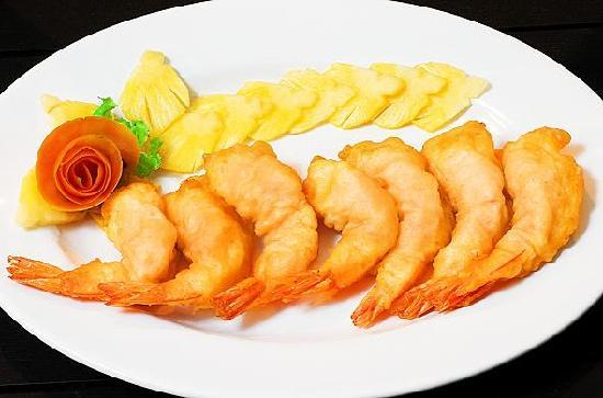 Phuket Heritage Hotel: deep fried prawns