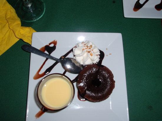las Palmeras: le fondant au chocolat