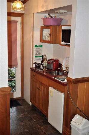 Settlers Cottage Motel: Small kitchenette area.