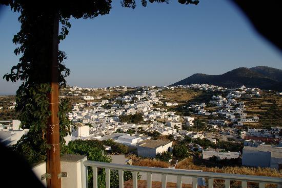 Petali Village Hotel: Apollonia vue de la terrasse de ma chambre