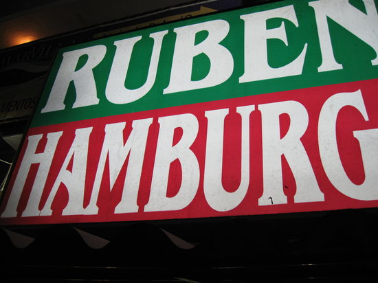 Ruben's Hamburgers : The signage