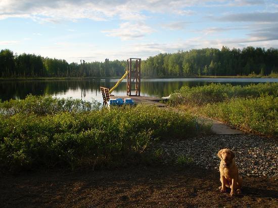 Alaska's Winter Park Cabins: View from main beach access
