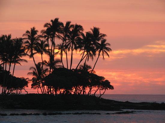 Puako, HI: sunset at the beach