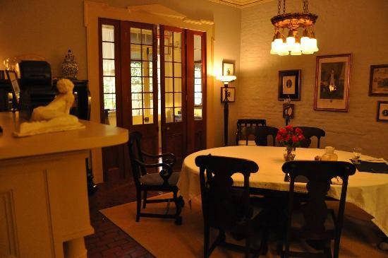 Monrose Row: Dining room, filled with elegant furnishings