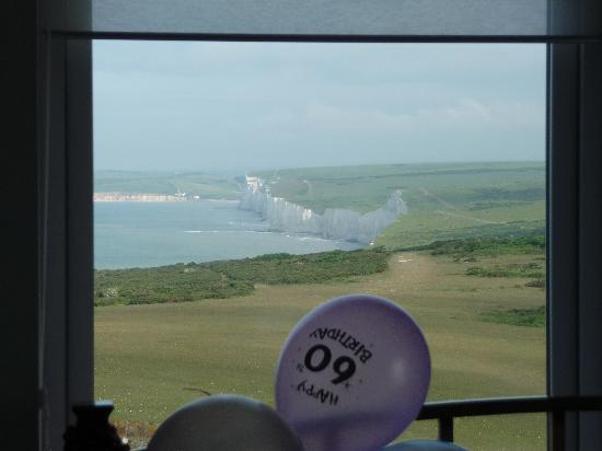 Belle Tout Lighthouse: view from our room