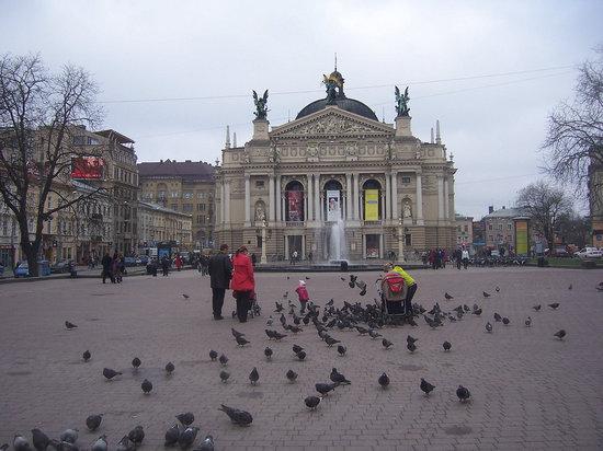Lvov, Ukraina: das alte Opernhaus