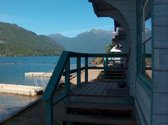 Lake Cushman Resort : Partial North View from Cabin #2