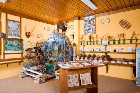 Habere-Poche, France : Salle des guides