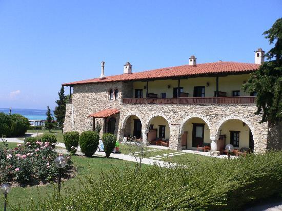 Sani, Grækenland: Toller Baustil der Hotelanlage