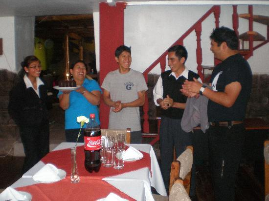 Fredy´s Grill Resto & Cafe : Celebrating the birthday of one of our girls staff