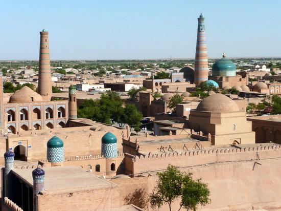 Hotel Asia Khiva: Blick vom Aussichtsturm über Chiwa