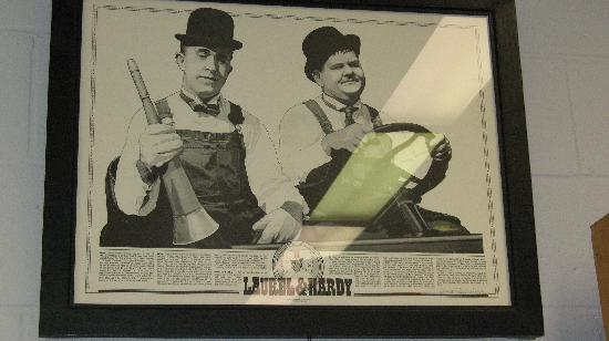 The Laurel and Hardy Museum of Harlem, Georgia: Exceptional pencil drawing of Ollie & Stan