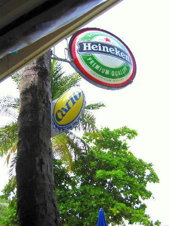 Ali Baba's: Heineken Sign at Ali Babbas