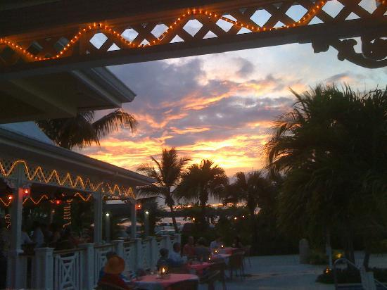 Royal West Indies Resort: Sunset from our table at the Mango Reef Restaurant