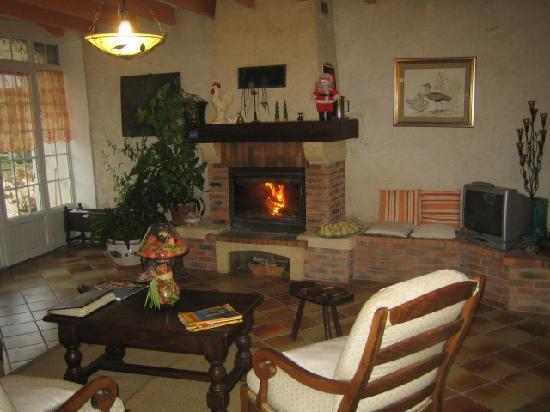 Maison Trille: devant cheminée, il fait bon vivre