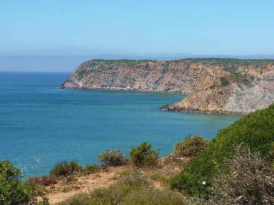 Salsalito: View from cliff top path, five mins away