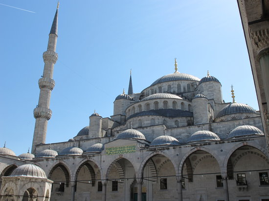 Istanbul, Tyrkia: la mosquee bleue ou sultanahmet camii
