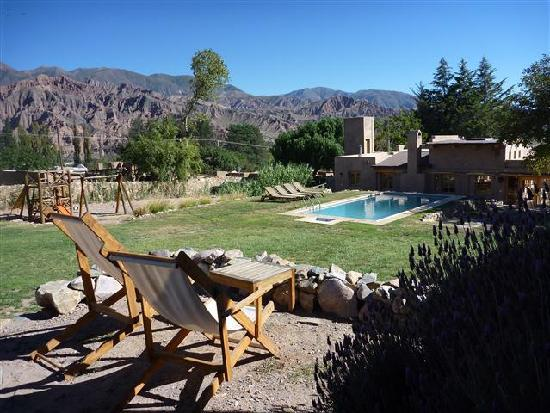Posada de Luz: A different room with view across lawns and valley