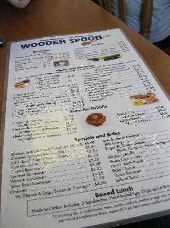 Wooden Spoon Menu Picture Of Wooden Spoon Marathon Tripadvisor