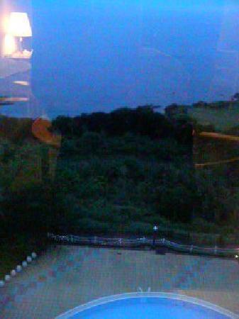 โรงแรม โตมิอูระ รอยัล มินามิโบโสะ: 客室から海とプールが見えました