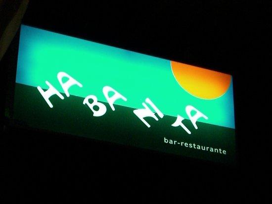 Restaurante Habanita: insegna del locale