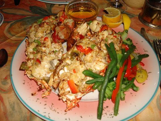 Bel Mar Grill: baked stuffed local lobster