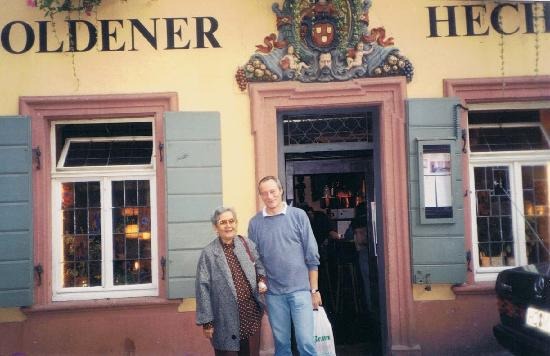 Hotel Goldener Hecht: my Mom with Andy Ellwanger