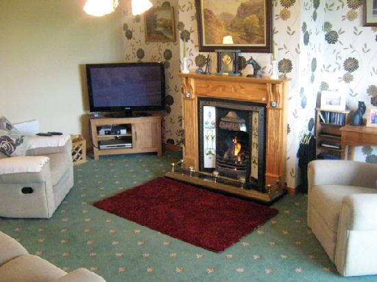 Bayview Country House: Sitting Room - Open Fire