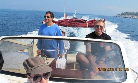 Sant'Agnello, Italy: On the boat with Captin Ago