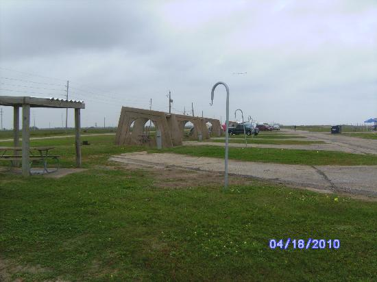 Galveston Island State Park Looking East Camping Spots On Beach Side