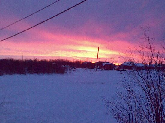 Spring Sky in Aklavik after a night of Northern Lights