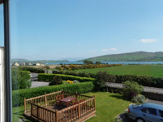 Brownes Bed & Breakfast Dingle: view out of window in room 3