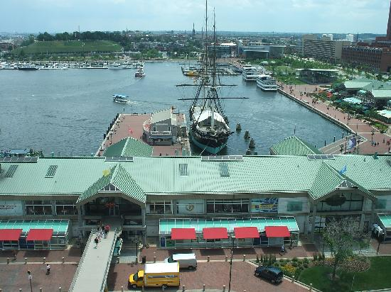 Renaissance Baltimore Harborplace Hotel: View from room of Inner Harbor
